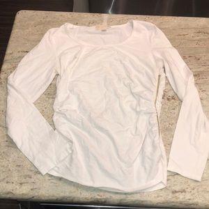 White Michael Kors long sleeve top